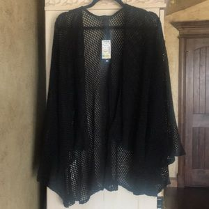 Steve Madden Black Cape with sleeves